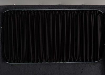 Van curtain closed Black