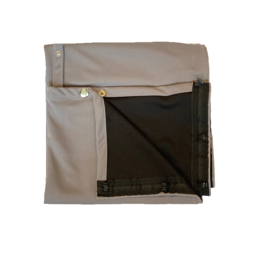 grey curtain fabric